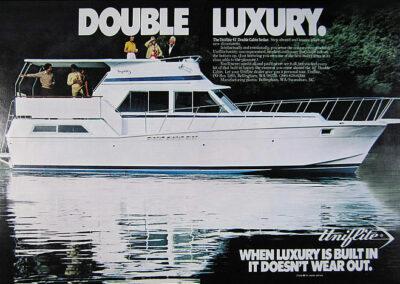 Uniflite Magazine Ad for 42 Double Cabin Sedan